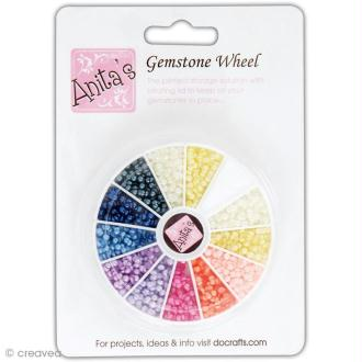 Boîte de strass - Assortiment multicolore opaque