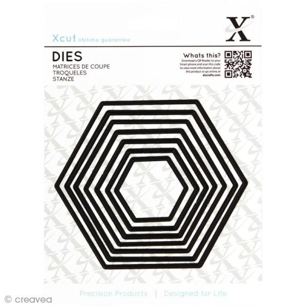 Dies X Cut - Hexagones x 7 - Photo n°1