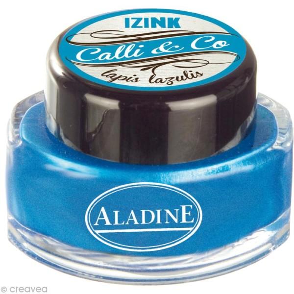 Encre de Calligraphie Bleu nacré 15 ml - Photo n°1