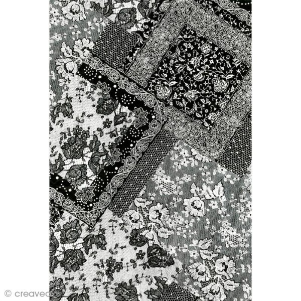 Décopatch Noir et blanc 628 - 1 feuille - Photo n°1