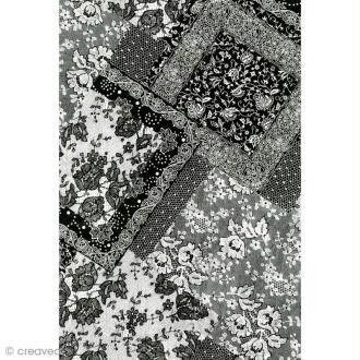 Décopatch Noir et blanc 628 - 1 feuille