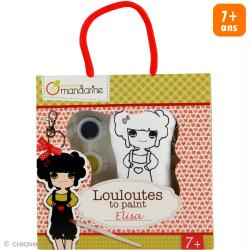 Kit créatif Les Louloutes à peindre - Elisa