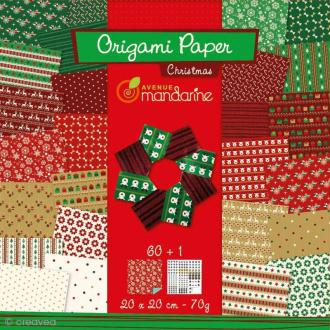 Origami 20 x 20 cm - Christmas x 60 papiers