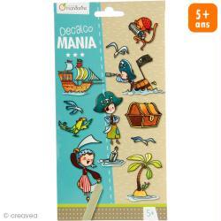 Transfert Décalco Mania - Pirates - 2 planches 19 x 10,2 cm