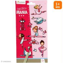 Transfert Décalco Mania - Danseuses - 2 planches 19 x 10,2 cm