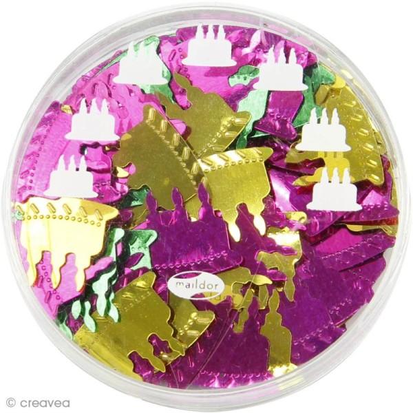 Confettis de table - Gâteaux x 5 g - Photo n°2