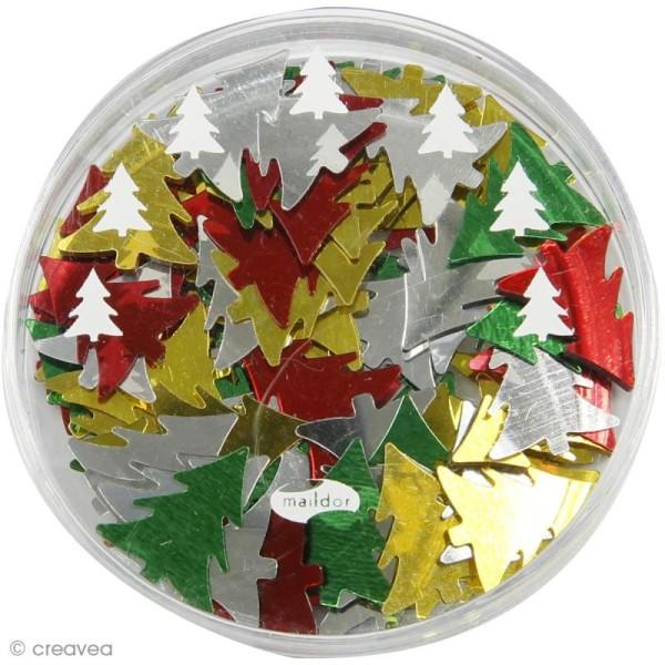 Confettis de table - Sapins x 5 g - Photo n°2