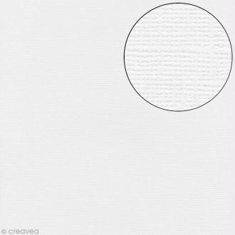 Papier scrapbooking Bazzill 30 x 30 cm - Texture - White (blanc)