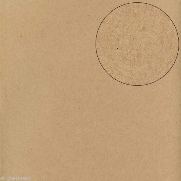 Papier scrapbooking Bazzill 30 x 30 cm - Lisse - Classic kraft - Photo n°1
