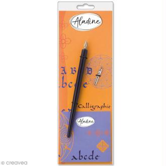Porte-plumes et plumes biseautées pour calligraphie Latine