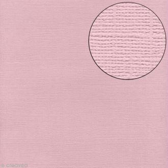 Papier scrapbooking Bazzill 30 x 30 cm - Texture - Petalsoft (rose poudré)