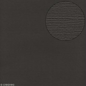 Papier scrapbooking Bazzill 30 x 30 cm - Texture - Thunder (gris orage)