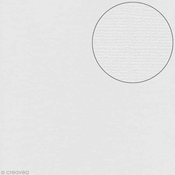 Papier scrapbooking Bazzill 30 x 30 cm - Scintillant - Bling diamond (blanc diamant) - Photo n°1