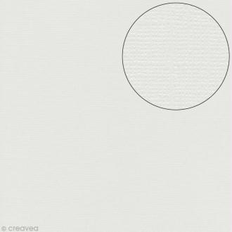 Papier scrapbooking Bazzill 30 x 30 cm - Pailleté - Bling diamond (blanc diamant)