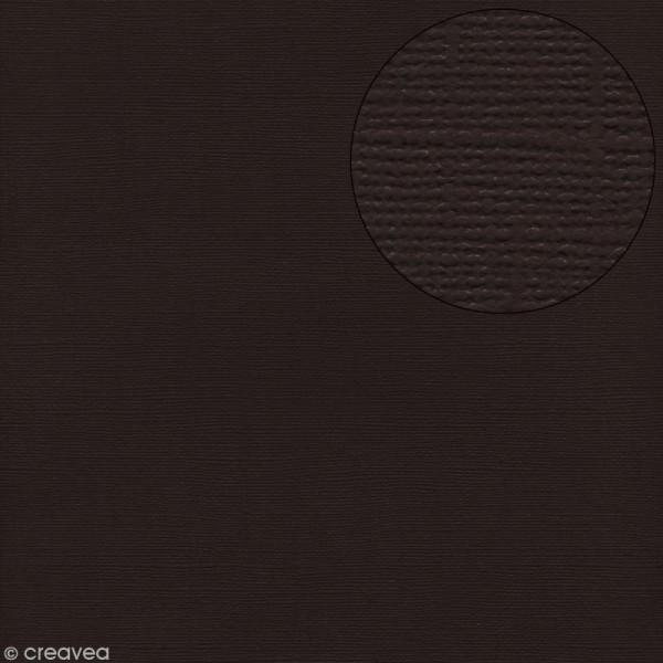 Papier scrapbooking Bazzill 30 x 30 cm - Texture - Java (marron brun) - Photo n°1