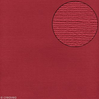 Papier scrapbooking Bazzill 30 x 30 cm - Texture - Red (rouge)