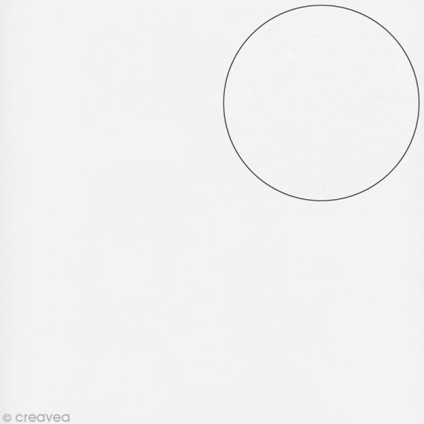 Papier scrapbooking Bazzill 30 x 30 cm - Lisse - Lisse blanc (blanc) - Photo n°1