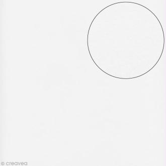 Papier scrapbooking Bazzill 30 x 30 cm - Lisse - Lisse blanc (blanc)