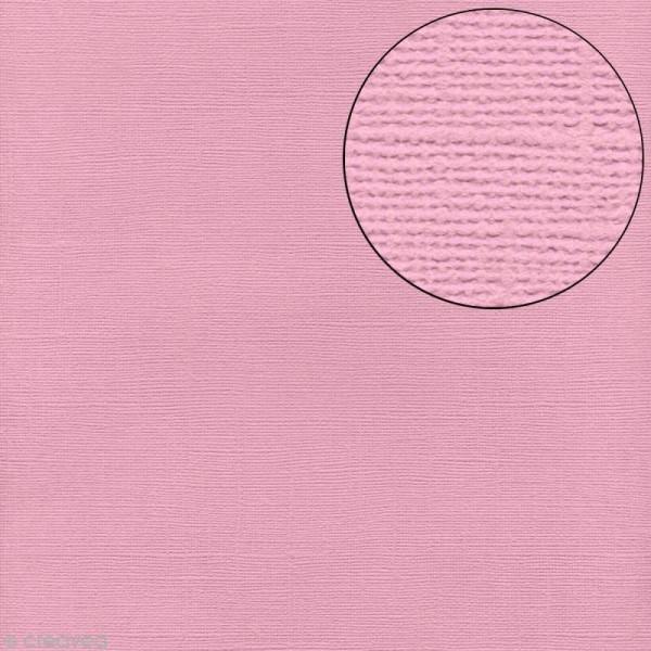 Papier scrapbooking Bazzill 30 x 30 cm - Texture - Romance (rose) - Photo n°1