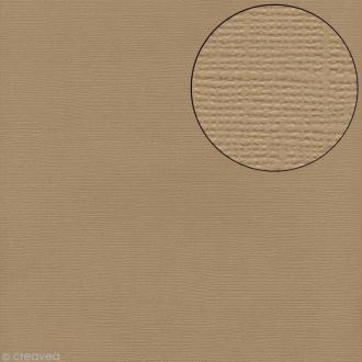 Papier scrapbooking Bazzill 30 x 30 cm - Texture - Twig (beige)