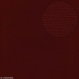 Papier scrapbooking Bazzill 30 x 30 cm - Texture - Pomegranate (rouge bordeaux)
