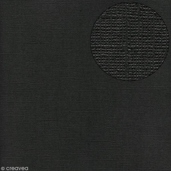 Papier scrapbooking Bazzill 30 x 30 cm - Pailleté - Bling black tie (noir) - Photo n°1