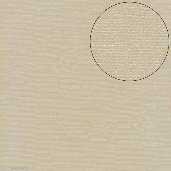 Papier scrapbooking Bazzill 30 x 30 cm - Pailleté - Bling string of pearls (blanc perle) - Photo n°1