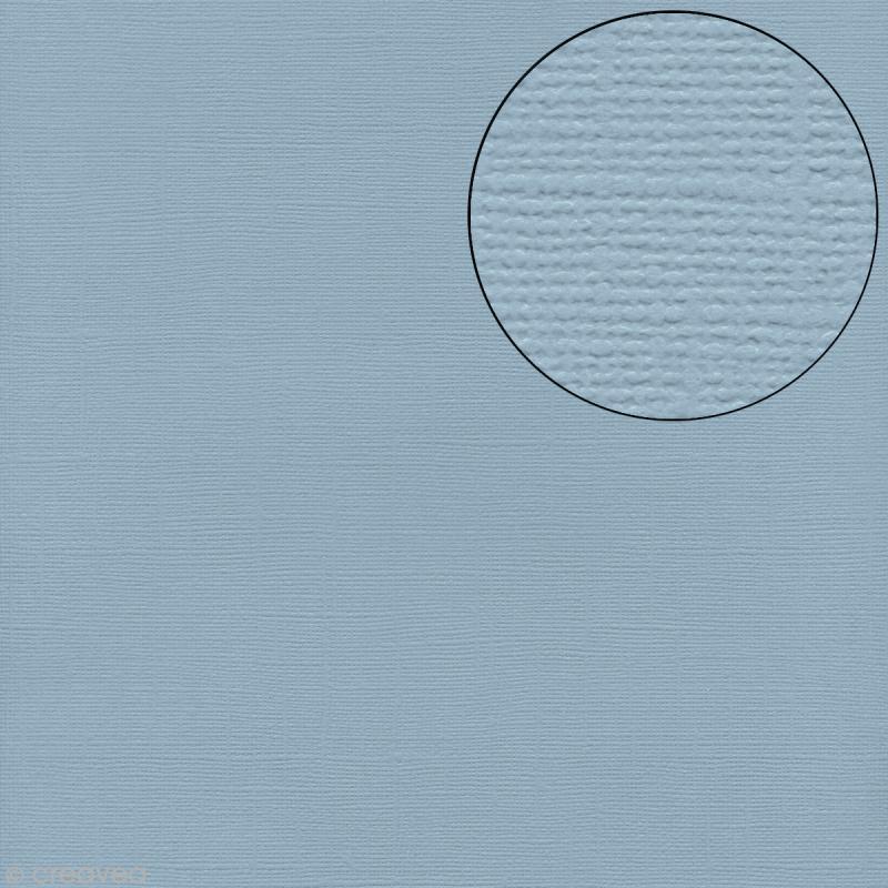 Papier scrapbooking Bazzill 30 x 30 cm - Texture - Starmist (bleu) - Photo n°1