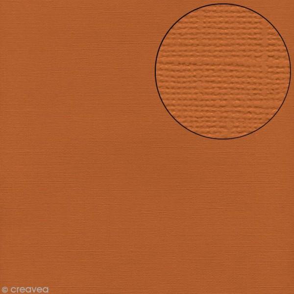 Papier scrapbooking Bazzill 30 x 30 cm - Texture - Apricot (orange brique) - Photo n°1