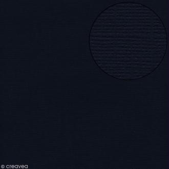 Papier scrapbooking Bazzill 30 x 30 cm - Texture - Admiral (bleu marine)