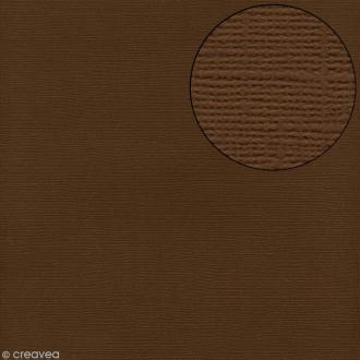Papier scrapbooking Bazzill 30 x 30 cm - Texture - Walnut (marron noisette)
