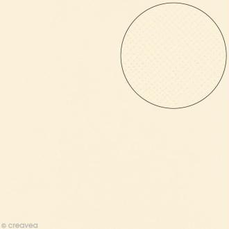 Papier scrapbooking Bazzill 30 x 30 cm - Texture - Criss cross cream puff (blanc crème)