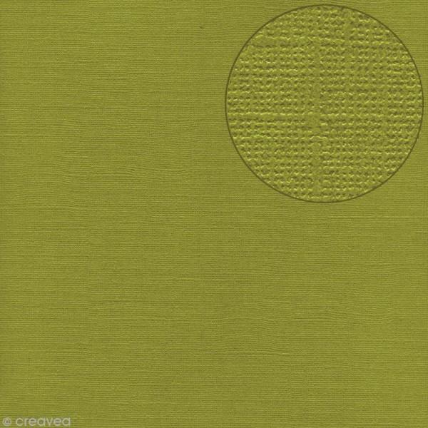 Papier scrapbooking Bazzill 30 x 30 cm - Texture - Hillary (vert) - Photo n°1