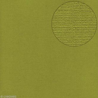 Papier scrapbooking Bazzill 30 x 30 cm - Texture - Hillary (vert)