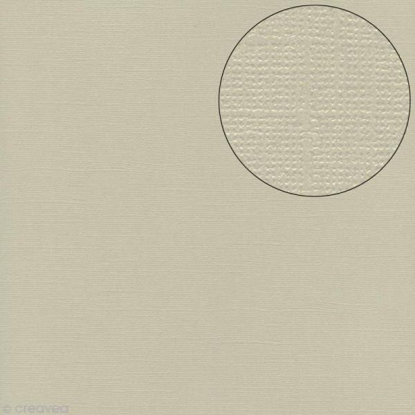 Papier scrapbooking Bazzill 30 x 30 cm - Pailleté - Bling glass slipper (Gris-beige) - Photo n°1