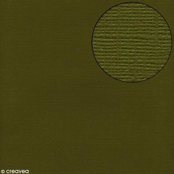 Papier scrapbooking Bazzill 30 x 30 cm - Texture - Ivy (vert foncé) - Photo n°1