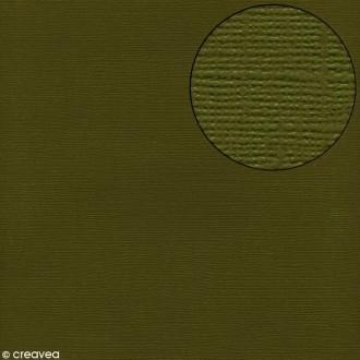 Papier scrapbooking Bazzill 30 x 30 cm - Texture - Ivy (vert foncé)
