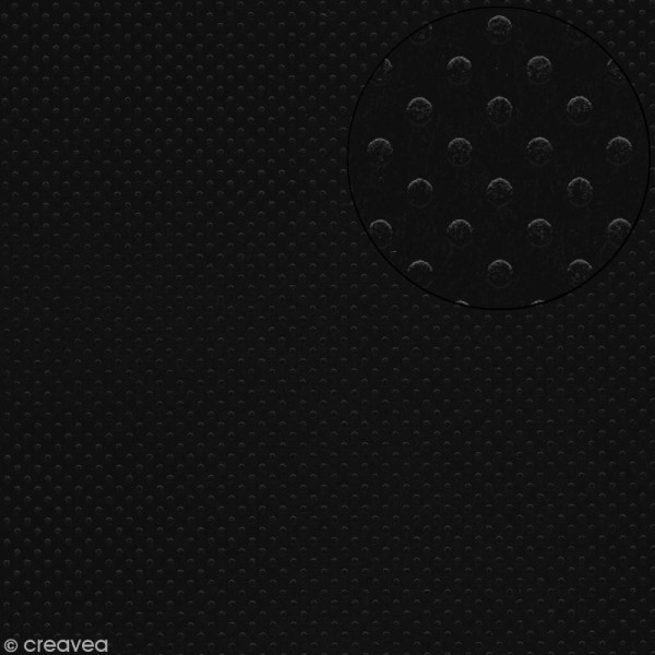 Papier scrapbooking Bazzill 30 x 30 cm - Pois - Dotted pepper (noir poivre) - Photo n°1