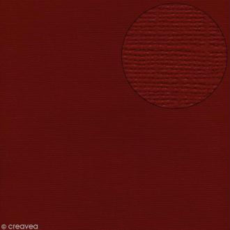 Papier scrapbooking Bazzill 30 x 30 cm - Texture - Maraschino (rouge foncé)