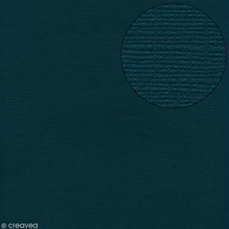Papier scrapbooking Bazzill 30 x 30 cm - Texture - Bahama (bleu foncé)