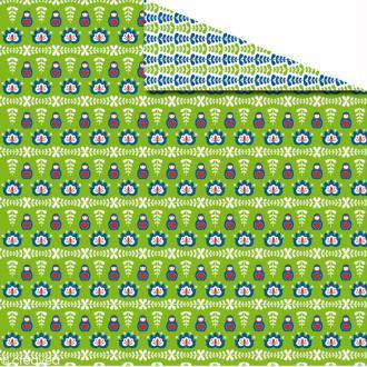 Papier scrapbooking Noël 30 x 30 cm - Russe matriochka recto / verso