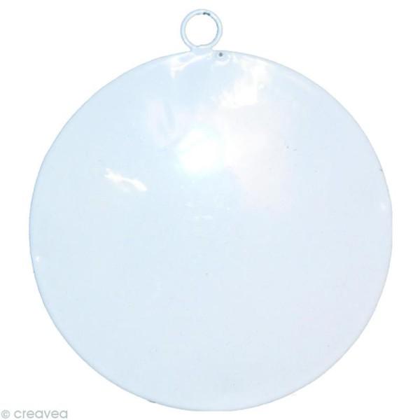 Rond en métal blanc à suspendre - 8 cm - Photo n°1