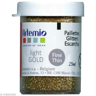 Paillettes Artemio dorées - 25 ml