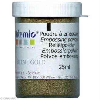 Poudre à embosser Artemio Opaque - Or détaillé 25 ml