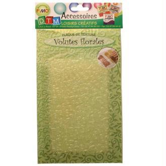 Plaque de texture Volutes florales 20,5 x 13,5 cm