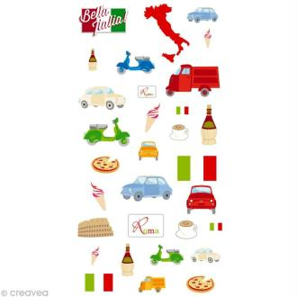 Stickers Puffies 13,5 x 8 cm - Rome x 31 autocollants