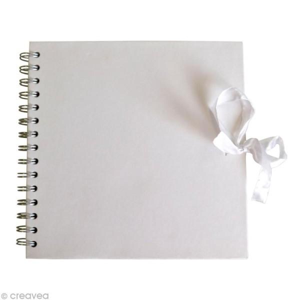 Carnet scrapbooking 20 x 20 cm - Blanc - 40 feuilles - Photo n°1