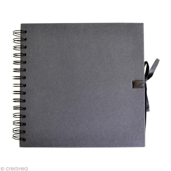 Carnet scrapbooking 20 x 20 cm - Noir - 40 feuilles - Photo n°1
