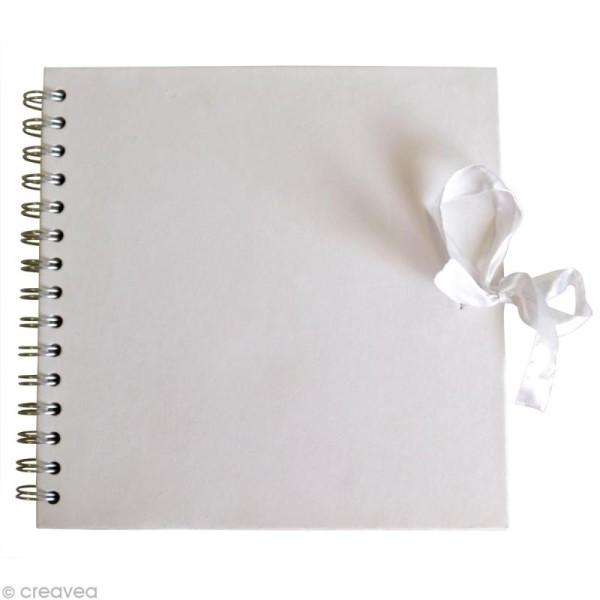 Carnet scrapbook Artemio 30 x 30 cm - Blanc - 40 feuilles - Photo n°1
