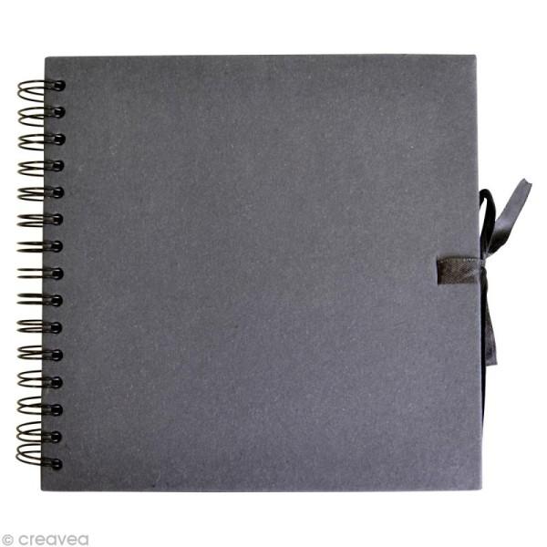 Carnet scrapbook Artemio 30 x 30 cm - Noir - 40 feuilles - Photo n°1